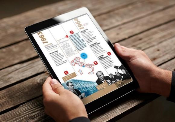 La storia di Iccrea diventa una App per iPad, 2013