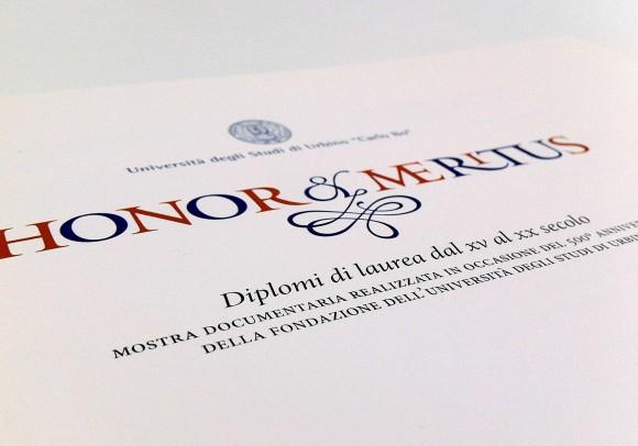 Un libro e una mostra sui diplomi di Laurea,<br>Urbino 2006