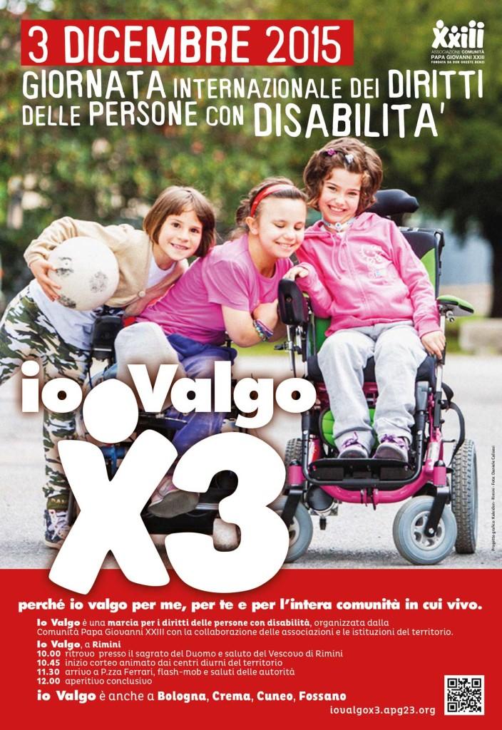 Poster per la giornata internazionale dei diritti delle persone con disabilità.