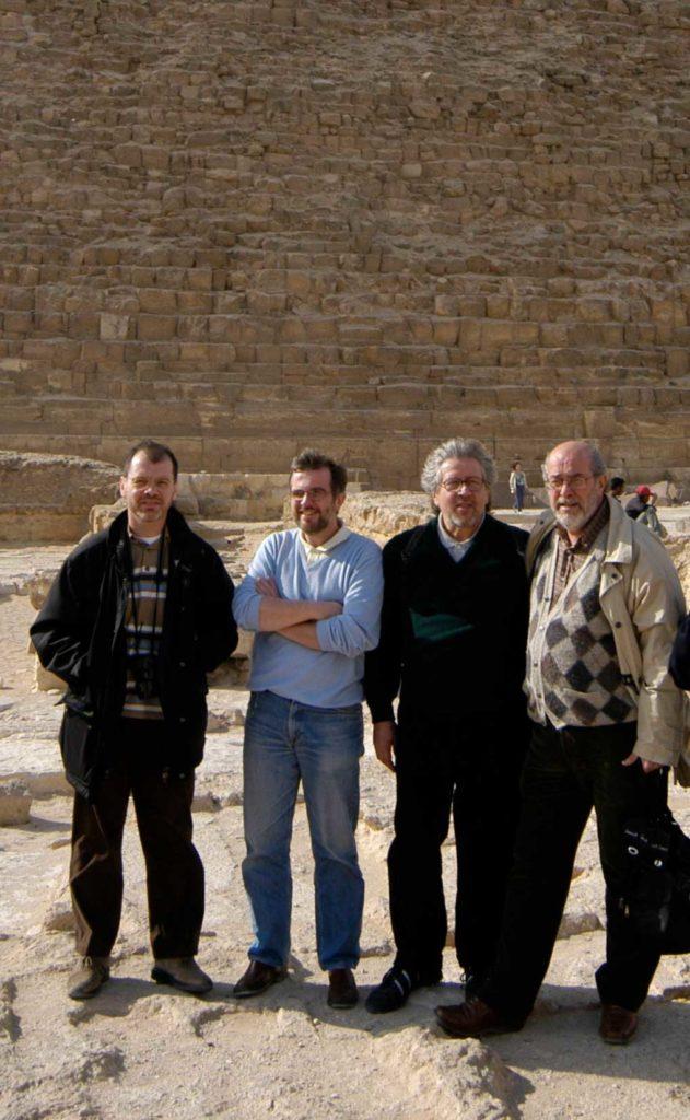 Egitto 2005: io, Franz, Massimo e Franco Mariani direttore dell'ISIA fino al 2007